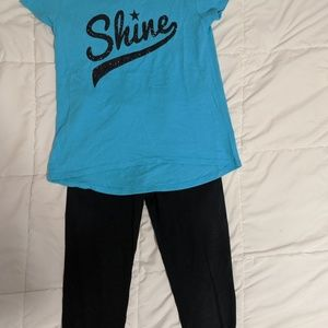 Girls full outfit. Shirt and leggings